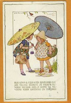 Margaret W. Tarrant (1888 – 1959, English) vintage postcard -an early postcard from a set of 6