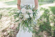 Created by Brantford Blooms Florist // Bigger, Wilder, Greener = Better. Garden Roses are a beautiful way to add volume and beauty to a wedding bouquet! Pastel Blue Wedding, Floral Wedding, Wedding Flowers, Bridesmaid Bouquet, Wedding Bouquets, Trailing Bouquet, Blooms Florist, Most Beautiful Flowers, Our Wedding