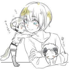 Attack on Titan, Armin x Jean x Marco