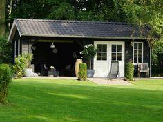 Tak Outdoor Buildings, Garden Buildings, Outdoor Rooms, Outdoor Gardens, Outdoor Living, Prefab Cabins, Garden Studio, Pergola Designs, Black House