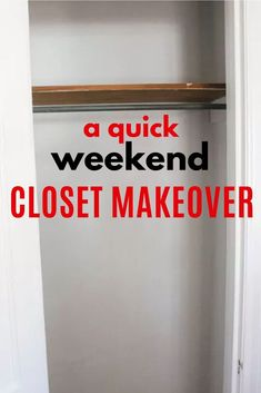 Budget friendly diy closet organization idea you can do in a weekend. How to organize a small closet. Tiny Closet, Closet Rod, Declutter, Organize, Simple Closet, Faux Shiplap, Master Bedroom Closet, Cabinet Makeover, Diy Cabinets