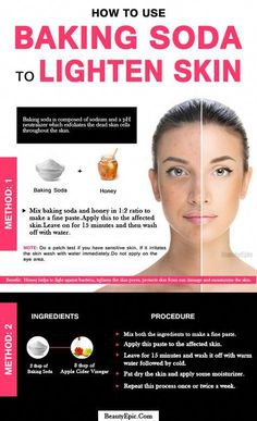 How to Use Baking Soda to Lighten Skin #BeautyTipsForSkin Beauty Care, Beauty Skin, Beauty Hacks, Diy Beauty, Beauty Ideas, Homemade Beauty, Face Beauty, Beauty Tutorials, Baking Soda And Honey