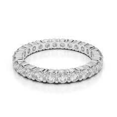 Gold / Platinum Diamond Full Eternity Ring AGDR-1111