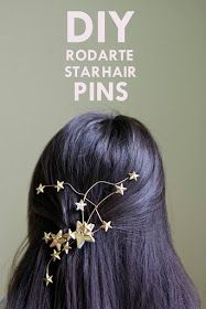 DIY Rodarte Star Hair Pins Tutorial- absolutely head over heels for this tutorial! It's whimsical and unique. I can't wait to make this!!