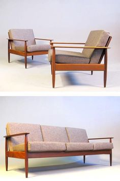 A teak lounge suite from the 1960's.