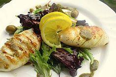 Calamari alla griglia (passt auch für Scampi)