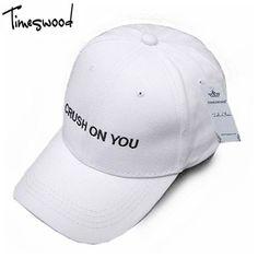 TIMESWOOD Branded Letter Baseball Caps Unisex Classic Fashion Hat Bones  For Men Women Adjustable b2c98d8b3a3b