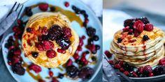 PROTEINRIKE KESAM LAPPER | til frokost og kvelds | Desiree Andersen Pancakes, Healthy Living, Snacks, Baking, Breakfast, Desserts, Food, Drinks, Tapas Food