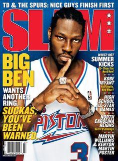 Slam 89 Ben Wallace #3 Detroit Pistons