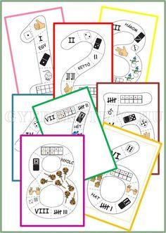 A számok és számolás tanítása során azt a célt tűztem magam elé, hogy olyan programot állítsak össze, melynek során a gyermek észre sem veszi, hogy tanul. Így lesz a gyermek számára sikerélmény a számokkal való ismerkedés! Montessori Math, Preschool Math, Math Classroom, Teaching Math, Educational Activities, Activities For Kids, Math Boards, Work On Writing, Play Based Learning