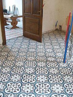 Cement tiles Living Room - Negra 05 - Project van Designtegels.nl