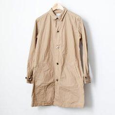 【Men's&Ladies'】Manual Alphabet / Typewriter shirt coat : beige