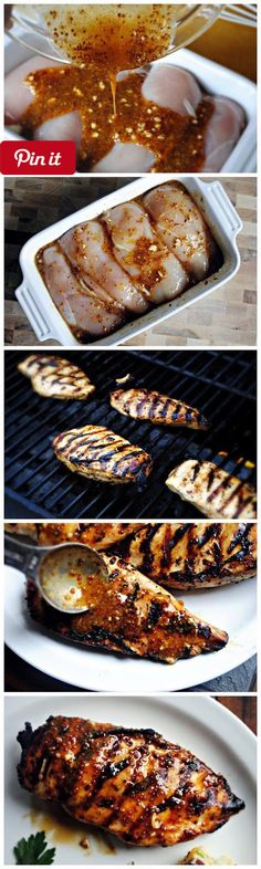Grilled Honey Mustard Chicken || I have made this recipe a dozen times; whether a quick marinade then on the grill marinade for a few hours then sear on a grill pan or in the oven and every single time I make it I wonder how it could possibly be so dang good? This is my no fail always-a-hit-and-guaranteed-to-turn-out-delicious-every-time recipe! #delicious #diy #Easy #food #love #recipe #recipes #tutorial #yummy @mabarto - Make sure to follow cause we post alot of food recipes and DIY we…