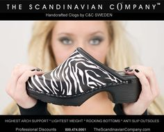 Clogs by C&C SWEDEN Handcrafted  Zebras