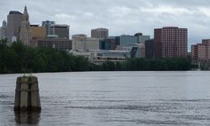 Skyline of Hartford viewed from the Connecticut River Hartford City, East Hartford, Hartford Connecticut, Old Greenwich, Old Saybrook, New Milford, New Britain, New View, Most Beautiful Cities