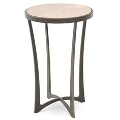 The Lotus Drink Table comes complete with a glass or wood top and hand-forged wrought iron table base available in iron finish options. Small Accent Tables, Blacksmith Projects, Drink Table, Wooden Tops, Club Chairs, Furniture Making, Wrought Iron, End Tables, Lotus