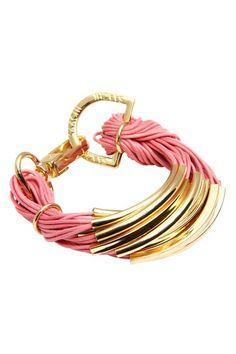 Pink String Bracelet. but i would like it better as a necklace.