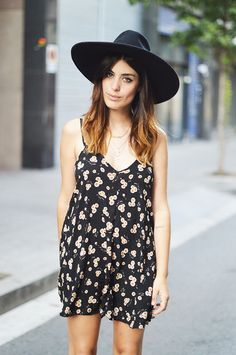 Dulceida: SIMPLE DRESS black florals & ombré hair for summer