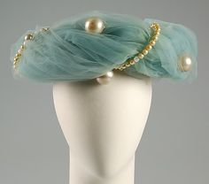 Hat, Evening  Attributed to Rose Valois (French)  Date: ca. 1950