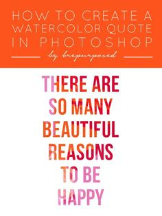 How to Create a Watercolor Quote in Photoshop