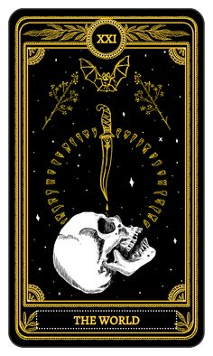 What Are Tarot Cards? Made up of no less than seventy-eight cards, each deck of Tarot cards are all the same. Tarot cards come in all sizes with all types Tarot Tattoo, Arte Black, Art Carte, Arte Obscura, Tarot Major Arcana, Occult Art, Tarot Decks, Skull Art, Dark Fantasy