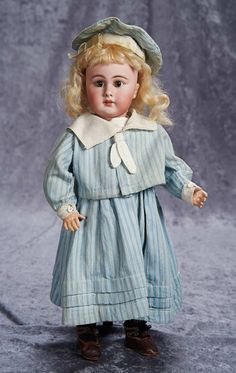 """17"""" (43 cm.) Bisque Child, 939, by Simon and Halbig with Lovely Antique Sailor Costume 700/1100"""