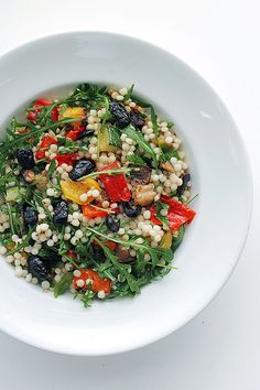 Mixed Roasted Vegs and Rocket Giant Couscous by Salad Pride, via Flickr