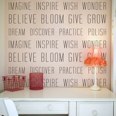 Wall Example: Encouraging Verbs Wall Quote Decal
