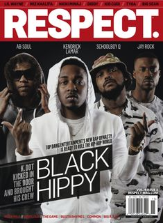 Respect Magazine cover : TDE artist Ab Soul Kendrick Lamar SchoolBoy Q and Jay Rock aka Black Hippy