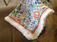 Jungle Print Nursery Blanket, Fleece Blanket, Crocheted Blanket, Baby Blanket, Boy Blanket by Lorettescottage on Etsy