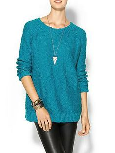 Skies Are Blue Nubby Pullover | Piperlime, I want this to wear with my pixie pants!  Size Medium please.