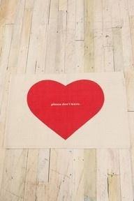 Please don't leave doormat. :)