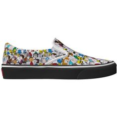 Vans x Peanuts Customs Slip-on (248.175 COP) ❤ liked on Polyvore featuring men's fashion and white