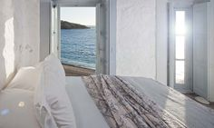 Coco-mat Eco Residences Serifos, a relaxed trendy hotel on one of the most beautiful beaches on Serifos, is perfect for relaxing beach holidays in Greece. Fresco, Villas, Ibiza, Small Beach Houses, Island Villa, Greece Hotels, Holiday Accommodation, Two Bedroom, Bedroom Ideas