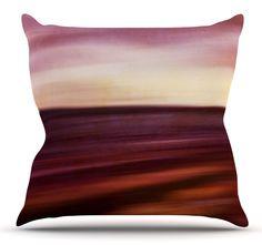 Seascape Sunset Throw Pillow