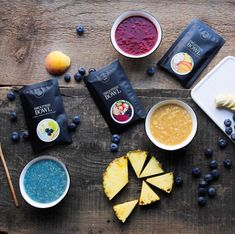 Smoothie Bowl - Liophilized fruits and vegetables. Smoothie Bol, Canada, Spirulina, Fruits And Vegetables, Blueberry, Pineapple, Ann, Strawberry, Peach