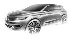 Lincoln MKX Concept - Front 3 4 view Design Sketch