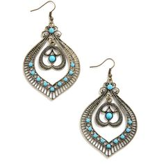 Ready Ornate Earrings ($15) ❤ liked on Polyvore featuring jewelry, earrings, accessories, plastic jewelry, plastic earrings and earring jewelry