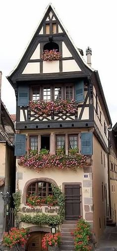 Alsace, France I would love to live in a cottage like this... So magical looking