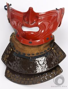 Ryugin Resseri menpo Mid Edo period (1603-1868)  Fine iron mask decorated with silver drops. This kind of decoration is called ryugin  and was in use among the Unkai armorers.