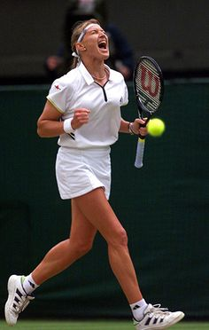 In the 80s and 90s, breathable and lightweight fabrics were developed, as seen on Steffi Graf in 1999