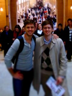 Aaron Tveit and his brother Jon.