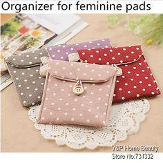 menstrual pad Spot Storage jute bag for sanitary napkin feminine pads ...