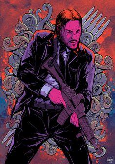 John Wick movie poster, a fan art piece. Keanu Reeves John Wick, Keanu Charles Reeves, Watch John Wick, John Wick Movie, John Wick 1, Baba Yaga, Keanu Reaves, Movie Poster Art, Cool Posters