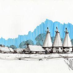 Marden, Kent by @brianfreelander #ArchiSketcher