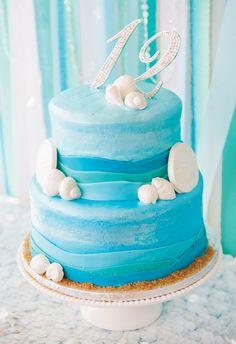 Beach Birthday! Cake of the Sea #FLVS #birthday #party #fun