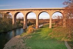 Bishop Auckland Viaduct.  This was once a railway bridge and it is now a road bridge.