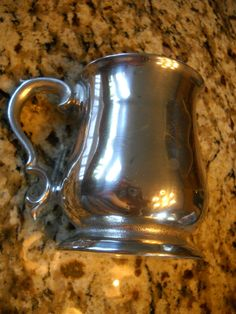 Wilton Mt. Joy Pa. USA Vintage Pewter Alloy Footed Scroll Handle Beer Mug Stein | eBay