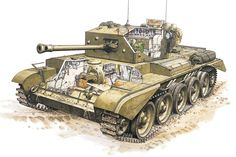 Cromwell - Tank Schematics / Blueprints  In service: 1944–1955 Used by: British Army, Israeli Army, Greek Army, Portuguese Army Wars: World War II, 1948 Arab–Israeli War, Korean War Designer: Leyland, then Birmingham Railway Carriage and Wagon Company from 194 Manufacturer: Nuffield Mechanisation and Aero Number built: 4,016 Weight: 28.0 t (27.6 long tons) Length: 6.35 m (20 ft 10 in) Width: 2.908 m (9 ft 6 1⁄2 in) Height: 2.49 m (8 ft 2 in)