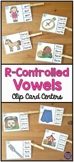 If your students need practice identifying r-controlled vowel sounds in words, this clip card activity will make a great literacy center, word work center, or early finisher activity.  My 2nd grade students love these and they are they can check their own work!
